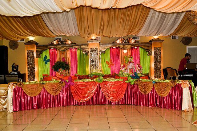 Rincon Real Reception Hall Quinceanera Main Tables Decoration July 2012 - 02 by Rincon Real Reception Hall, via Flickr