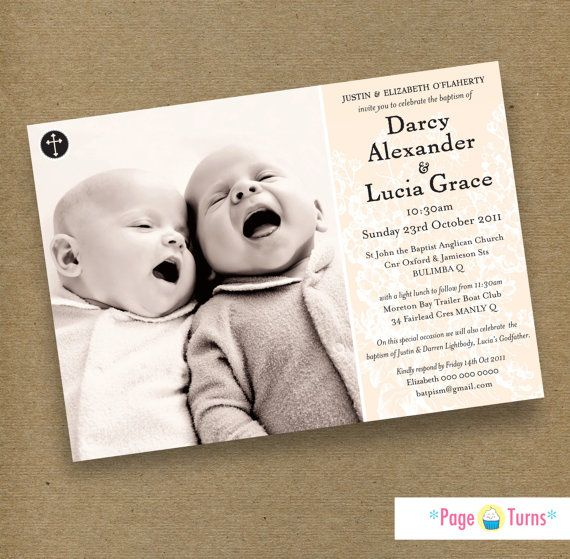 24 best card shop images on Pinterest Confirmation, Baptism - sample baptismal invitation for twins