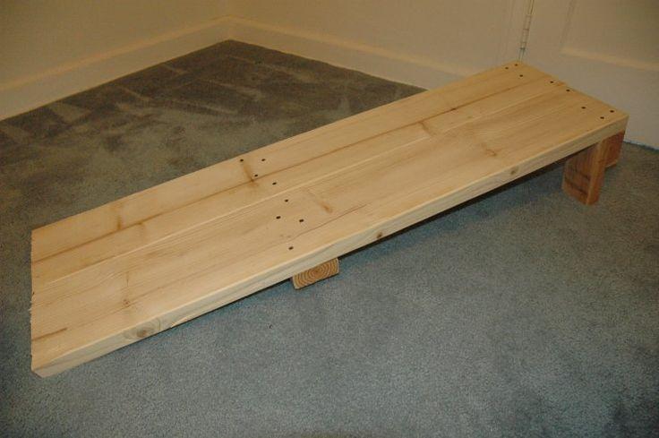 DIY wooden inline abdominal sit up bench