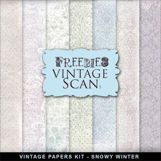 Freebies Vintage Paper Kit - Snowy Winter