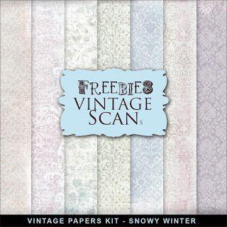 Freebies Vintage Paper Kit - Snowy Winter