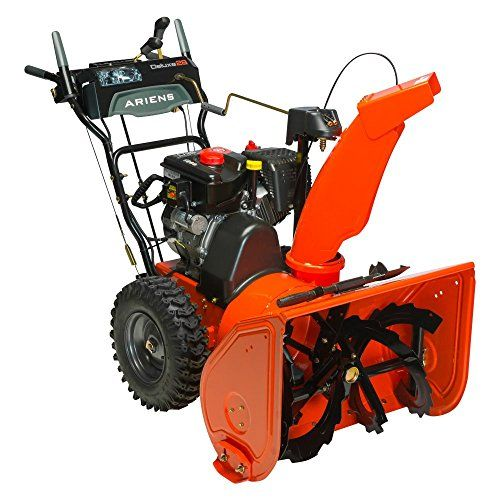 Ariens Deluxe 28 in. 2-Stage Electric Start Gas Snow Blower with Auto-Turn Steering Dimensions: 58.6L x 29.9W x 45.3H in. Made from metal Weight: 245 lbs. https://homeandgarden.boutiquecloset.com/product/ariens-deluxe-28-in-2-stage-electric-start-gas-snow-blower-with-auto-turn-steering/