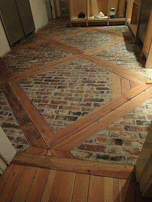 This looks like the flooring in French house/barn structures, found in rural areas.  ❤️ it! -  djc