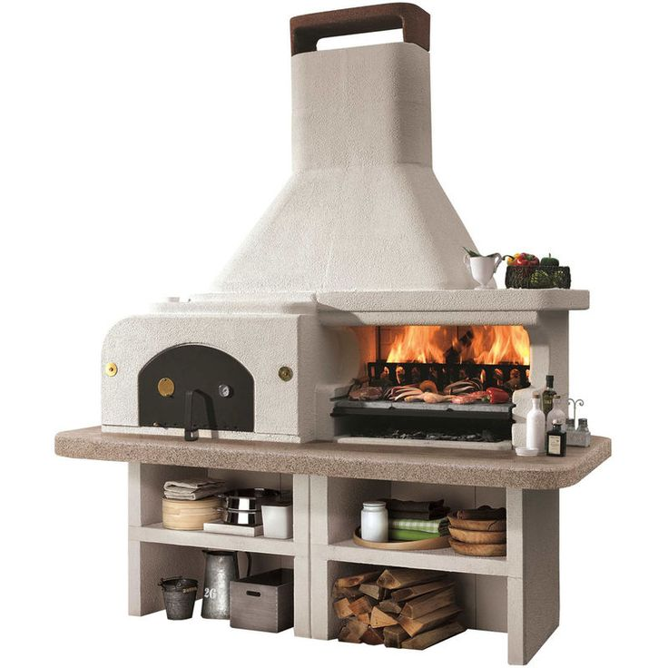 Barbecue pierre gargano avec four pizza id es jardin for Barbecue de jardin en pierre