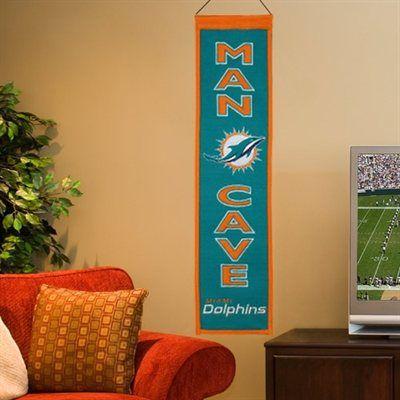 Miami Dolphins Man Cave Banner - Aqua