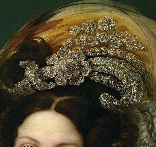 Vincent Lopez y Portana - Portrait de Marie Christine de Bourbon Deux Siciles (Détail)- 1830