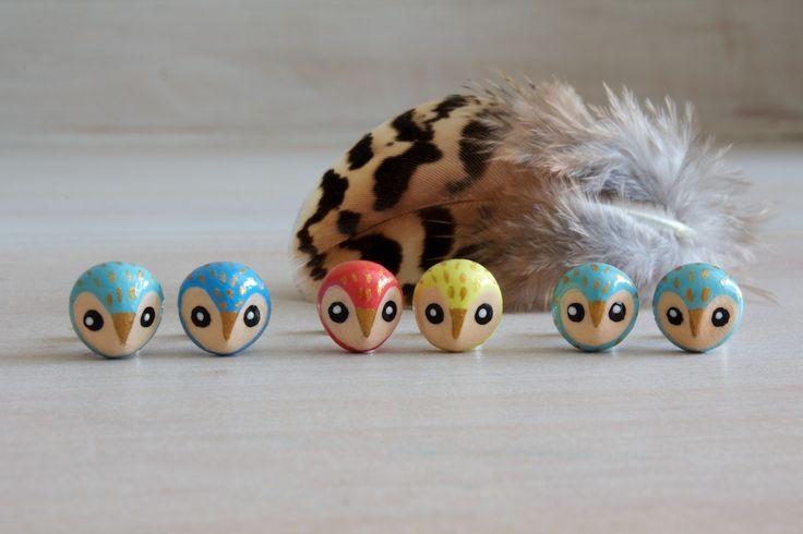 Owl Earrings - made to orderStud Earrings, Owls Jewerly, Studs Earrings, Owl Earrings, Owls Earrings, Products, Owls Studs