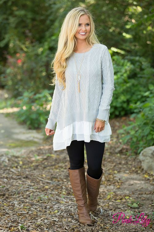 We are in love with this gorgeous sweater - the beautiful diamond knit print is such an essential for fall and winter, plus the adorable ruffled details at the bottom truly make this a standout look!