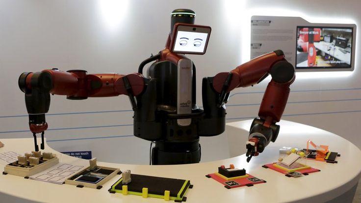 Industrieroboter: Baxter, ein Roboter mit digitalen Kulleraugen aus den USA