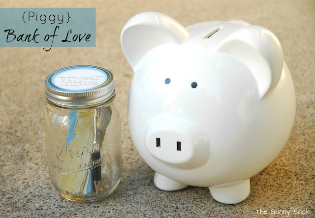 love this baby gift ... a piggy bank that will also be used for saving sweet memories