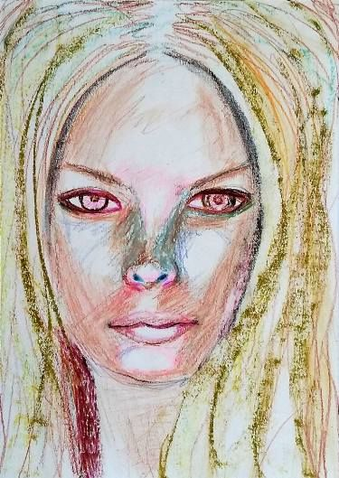 I like making sketches with mixed media of faces seen around, other than portraits on commission, and of this in particular I like the intensity of the expression. I use to make portraits on paper and just the best, like this one, I line on canvas.