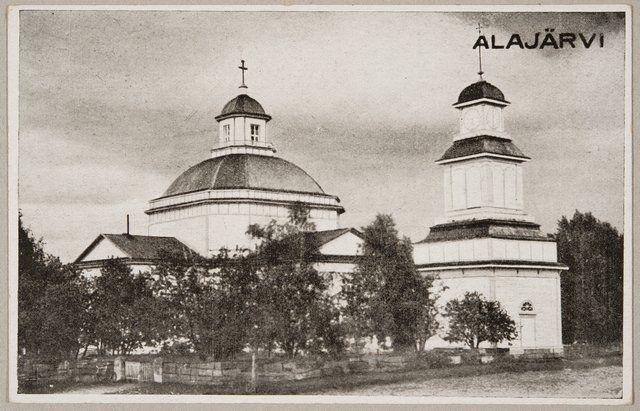 Tuntematon, 1930: Alajärven kirkko ja kellotapuli (Alajärvi, Museovirasto)