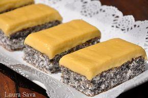Prajitura cu mac si nuca de cocos   Retete culinare cu Laura Sava
