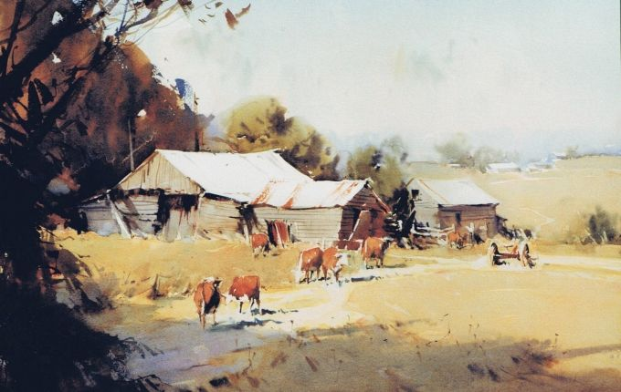 Ross Australia  city images : Ross Paterson : Watercolour : Australia Farms Barns, Animal Art ...