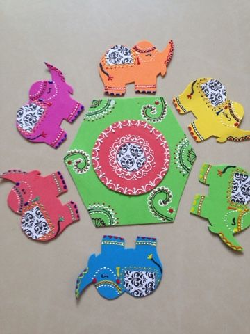 The Yellow thinking hat: Henna style decorations with 3D outliner