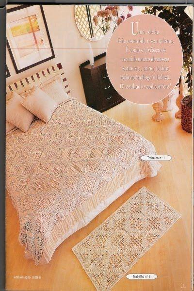 Colcha/capa de almofada/tapete com gráfico.