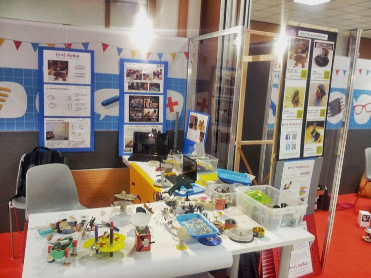 WeBot Lab / stand ScaraBot&Co #makerfairerome #tinkering