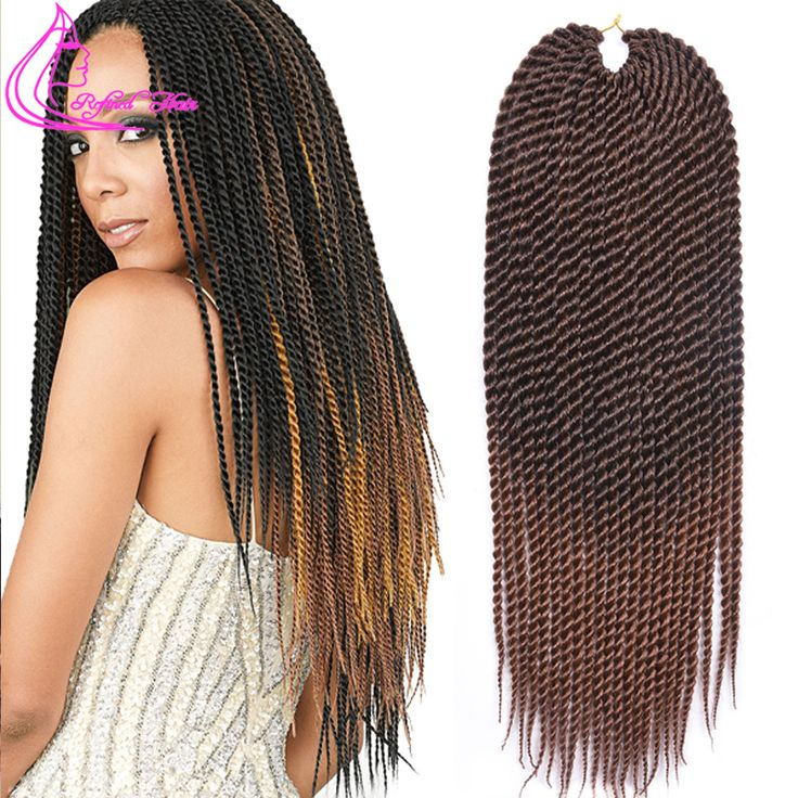 "2016 Most Fashion 22"" 120G 22Roots/Pack Marley Twist Hair Crotchet Braids 17 Colors Crochet Twists Hair Extensions Havana Twist"