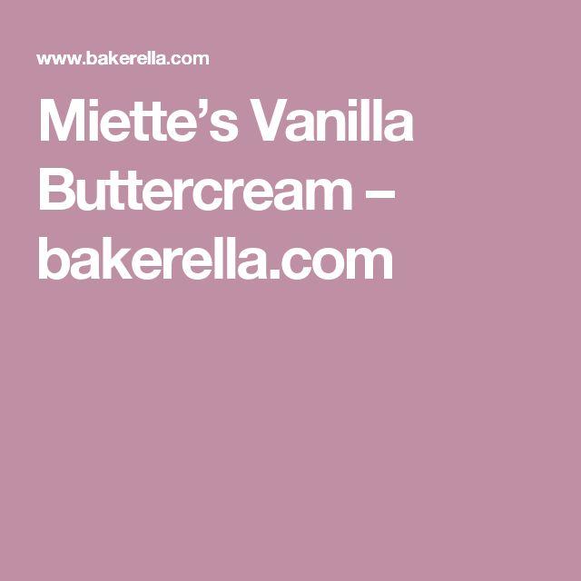 Miette's Vanilla Buttercream – bakerella.com