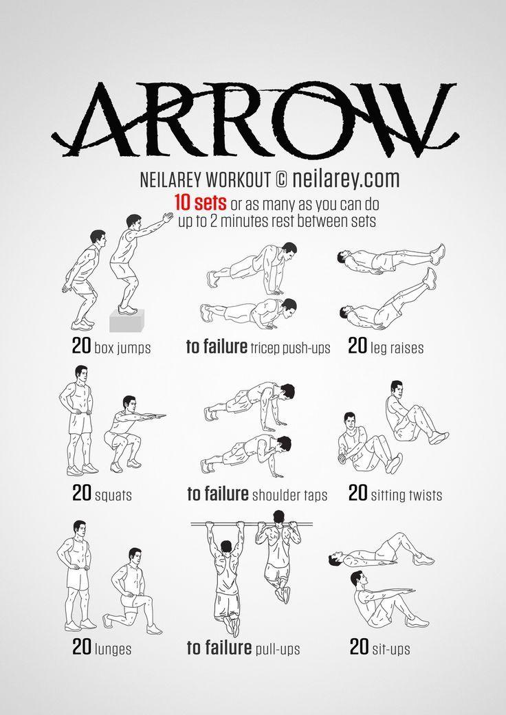 No-equipment superhero workout. Print & Use.