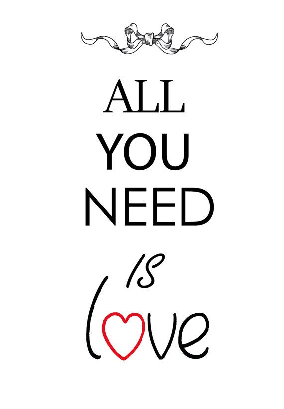 Printable wall art All you need is love in JPG and di Cakestore, €5.00