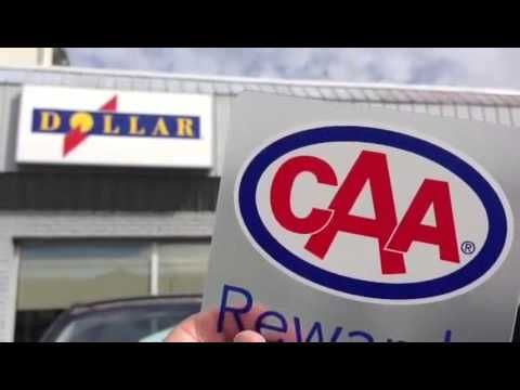 Receive a discount when you use your CAA card to rent at Dollar Rent a car #caarewards