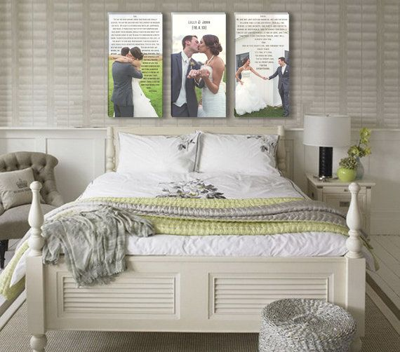 Wedding Vow Art with Photos are so cute for our bedroom. Plus we can sleep under our own vows and promises.