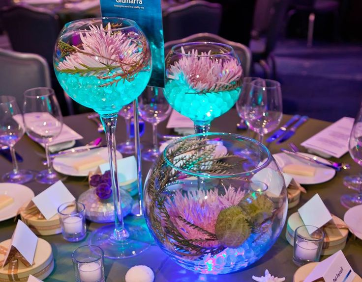 Take your wedding to the next level with great table designs complimenting the Georgia Aquarium. #legendaryevents  #tablescape