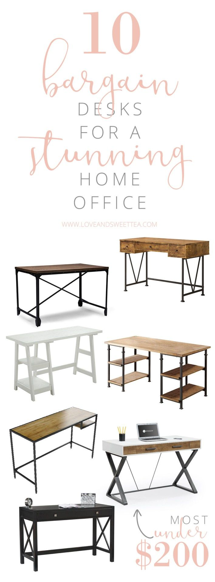 If you've seen my post about bargain desk chairs, you know I'm on the hunt for stylish and affordable office furniture.