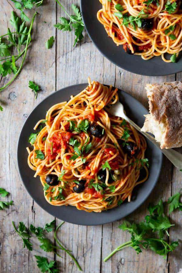 Spaghetti Alla Putanesca Recipe Italian Pasta Recipes