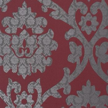 red grey damask home wallpaper by Walls Republic R1047 #pantone #coloroftheyear #marsala