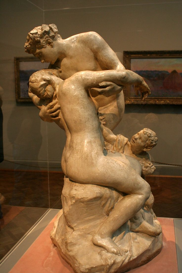 Aimé-Jules Dalou (ca. 1892) - Bacchus Consoling Ariadne, Plaster (!!). The Art Institute of Chicago