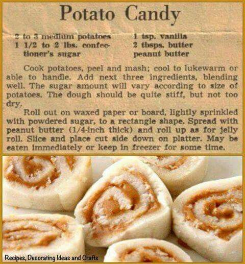 An old recipe from Country Cupboard on Facebook.