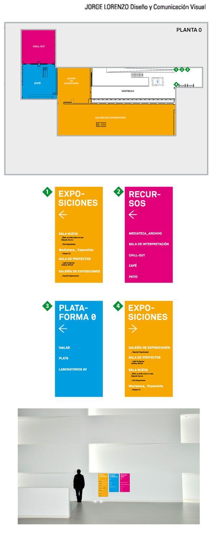 Señalética para Laboral #señaletica #design #Asturias