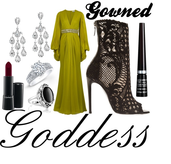 """Gowned Goddess"" by michelleanned on Polyvore"
