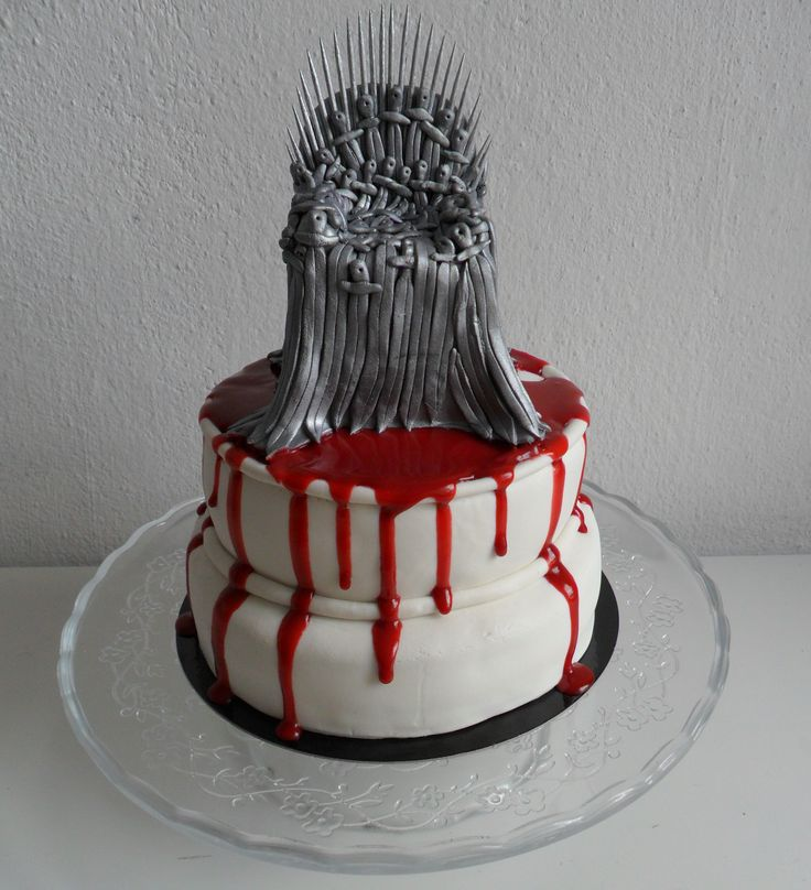 Game of thrones cake, iron throne www.facebook.com/sugarskullbakery