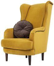 SIGI* fotel okkersárga szövet Fotelek, lábtartók, ülőkék sárga