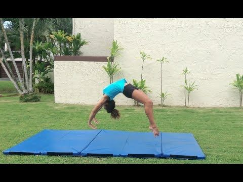 How to Do a Back Handspring For Beginners - YouTube