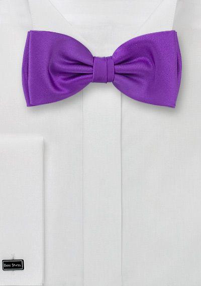 Herrenschleife lila Kunstfaser