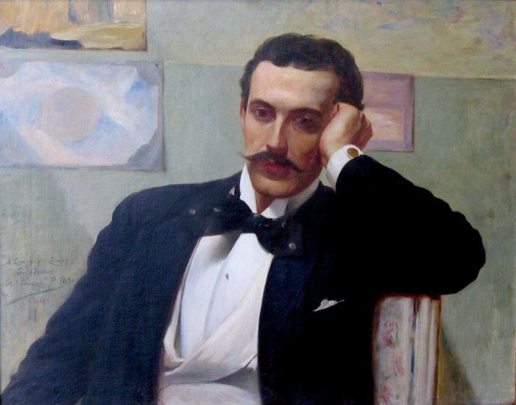 Retrato de Enrique del Campo / Alfredo Valenzuela Puelma, 1894