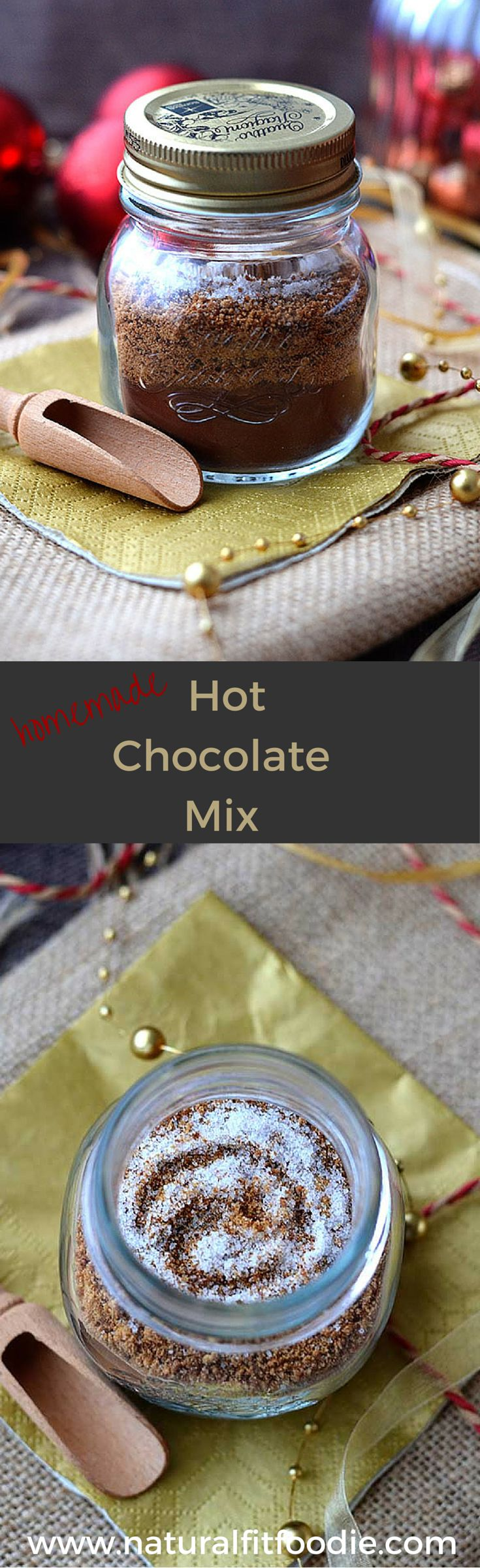 Homemade Hot Chocolate Mix Recipe - Try this Easy Homemade Hot Chocolate Mix and you'll never buy instant cocoa mixes again! Made from three simple real food ingredients it contains no milk powder. Makes a decadent creamy hot chocolate the whole family will love! Perfect way to warm up during those cold winter months.