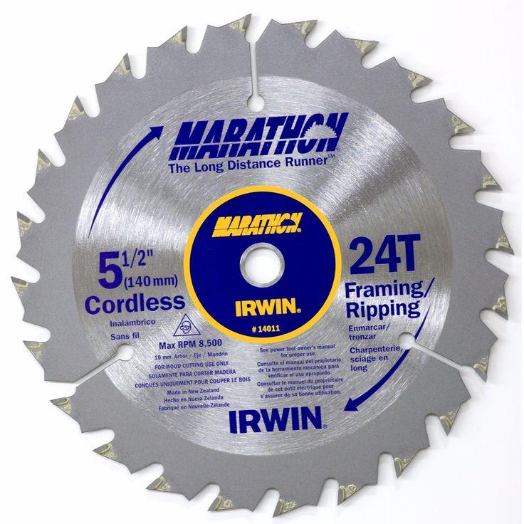 "Irwin Marathon 14011 5-1/2"" 24T Marathon Cordless Circular Saw Blade"