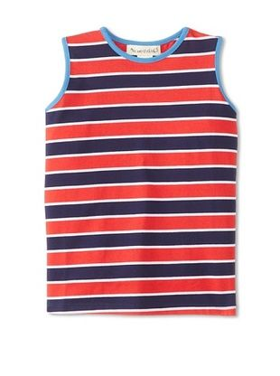 41% OFF Peas & Queues Kid's Thompson Tank (Red Stripe)