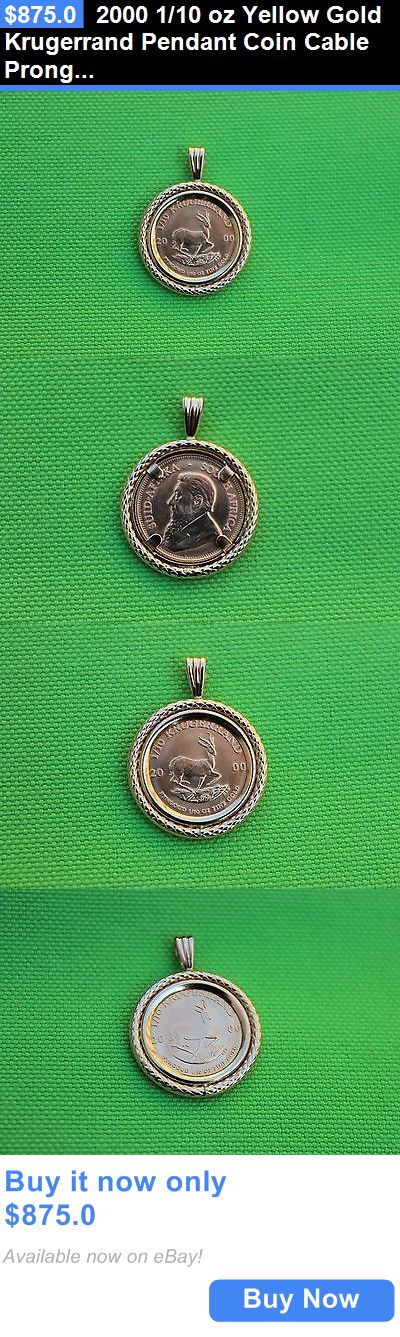 Bullion: 2000 1/10 Oz Yellow Gold Krugerrand Pendant Coin Cable Prong Bezel South Africa BUY IT NOW ONLY: $875.0
