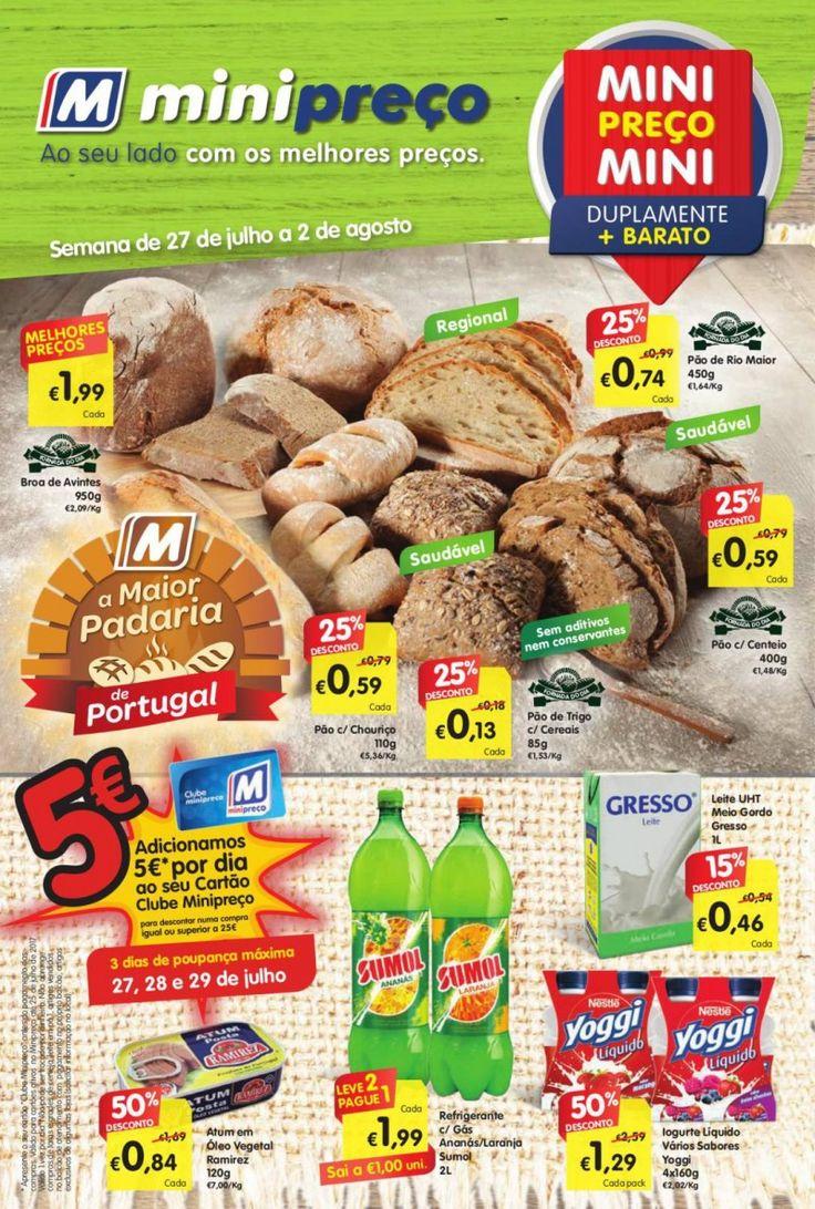 Folheto promoções da semana #Minipreço versão Nacional em vigor de 27 Julho a 02 Agosto.