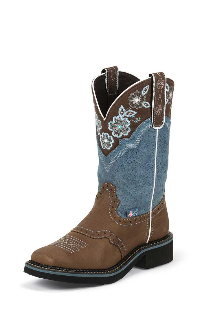 Justin Women's Gypsy Blue Aged Bark Cowgirl Boots - on sale & free shipping!