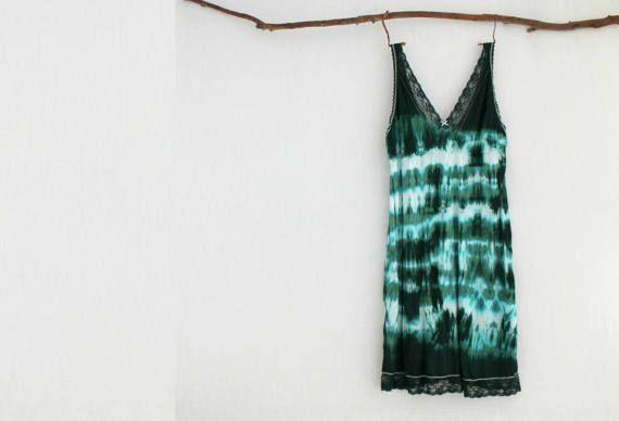 FOREST DWELLER . women's tie dye dress . plus by bohemianbabes