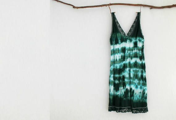FOREST DWELLER . women's tie dye dress . plus size 22 .