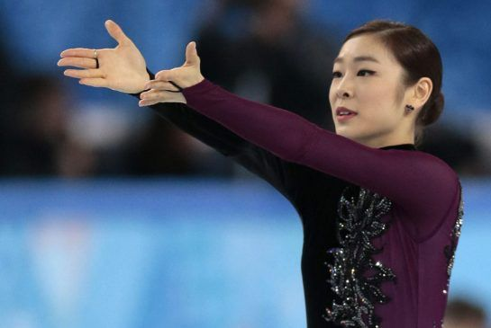Yuna Kim of South Korea competes in the women's free skate figure skating finals at the Iceberg Skating Palace during the 2014 Winter Olympi...