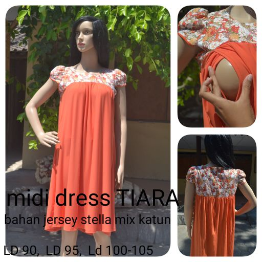 Midi dress tiara orange